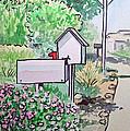 Mail Boxes Sketchbook Project Down My Street by Irina Sztukowski