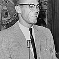 Malcolm X 1925-1965 Speaking In 1964 by Everett