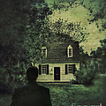 Man In Front Of Cottage by Jill Battaglia