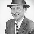 Man Wearing Hat, Posing In Studio, (b&w), Portrait by George Marks
