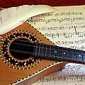 Mandolin And Partiture by Carlos Caetano
