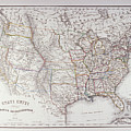 Map Of The Northen United States by Fototeca Storica Nazionale