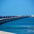 Marathon and the 7Mile Bridge in the Florida Keys Print by Susanne Van Hulst