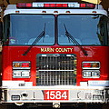 Marin County Fire Department Fire Engine . Point Reyes California . 7d15921 by Wingsdomain Art and Photography