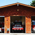 Marin County Fire Department . Point Reyes California . 7D15920 Print by Wingsdomain Art and Photography