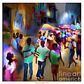 marketplace at night cap haitien by Bob Salo