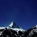 Matterhorn Switzerland Blue Hour by Maria Swärd