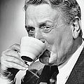 Mature Man Drinking Cup Of Coffee by George Marks