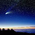 Mauna Kea Telescopes Print by D Nunuk and Photo Researchers