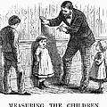 Measuring Children, 1876 by Granger