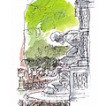 Medici Grotto Paris Print by Marilyn MacGregor