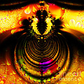 Melting Pot . Gold . Square . S8a.s11 by Wingsdomain Art and Photography
