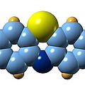 Methylene Blue, Molecular Model by Dr Mark J. Winter