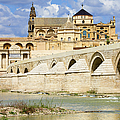 Mezquita Cathedral And Roman Bridge In Cordoba by Artur Bogacki