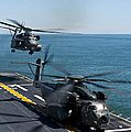 Mh-53e Sea Dragon Helicopters Take by Stocktrek Images