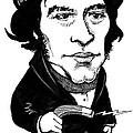 Michael Faraday, Caricature Print by Gary Brown
