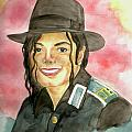 Michael Jackson - A Bright Smile Shining in The Sky Print by Nicole Wang