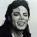 Michael Jackson Print by Attila Paszternak