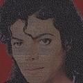 Michael Jackson Songs Mosaic by Paul Van Scott
