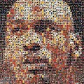 Michael Jordan Card Mosaic 3 by Paul Van Scott