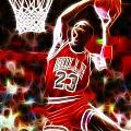 Michael Jordan Magical Dunk Print by Paul Van Scott