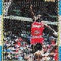 Michael Jordan Rookie Mosaic Print by Paul Van Scott