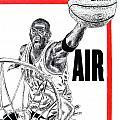 Michael Jordan Print by Vincent Wolff