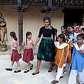 Michelle Obama Accompanied By Children by Everett