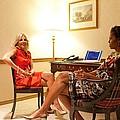 Michelle Obama And Dr. Jill Biden Wait by Everett