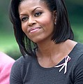Michelle Obama At The Press Conference by Everett