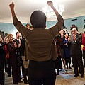 Michelle Obama Celebrates With Guests by Everett