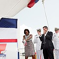 Michelle Obama Christens The Us Coast by Everett