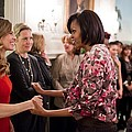 Michelle Obama Greets Actress Hilary by Everett