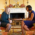 Michelle Obama Greets Mrs. Ada by Everett