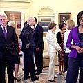 Michelle Obama Laughs With Guests by Everett