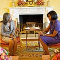 Michelle Obama Talks With Elizabeth by Everett