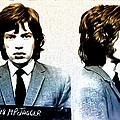 Mick Jagger Mugshot Poster by Bill Cannon