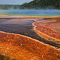 Middle Hot Springs Yellowstone by Garry Gay