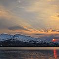 Midnight Sun Over Tjeldsundet Strait by Arild Heitmann