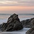 Mist Surrounding Rocks In The Ocean by Keith Levit