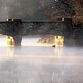 Misty Bridge Sunrise by Vicki Jauron