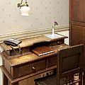 Modern Phone On An Old Fashioned Desk by Jaak Nilson