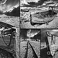 Montage Of Wrecked Boats by Meirion Matthias