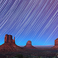 Monument Valley Star Trails  by Jane Rix