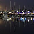 Moon Over The Marina
