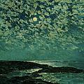 Moonlight Print by Childe Hassam