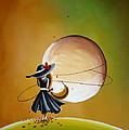 Moonrise Print by Cindy Thornton