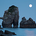 Moonset In Gaztelugache by Pere Soler