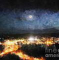 Moonshine Over Prescott by Arne Hansen