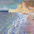 Morning at Etretat Print by Claude Monet